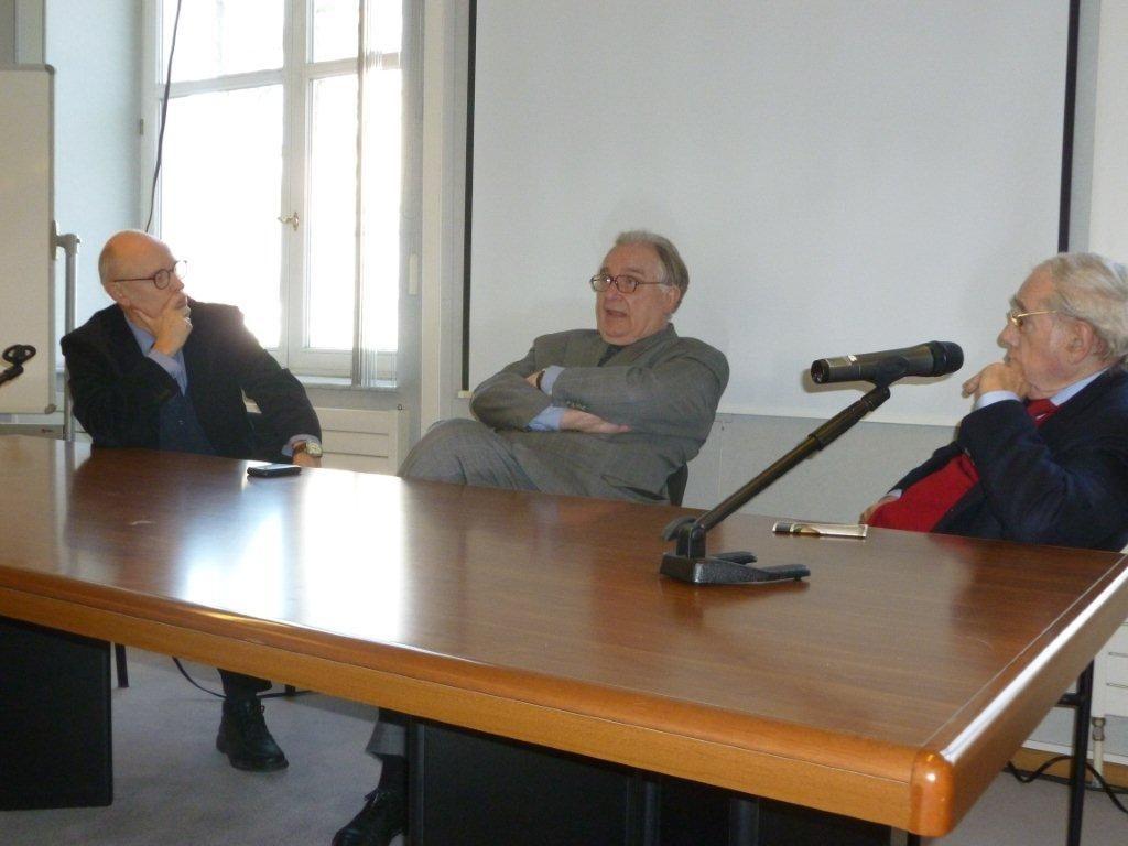 Conférence avec les Secrétaires perpétuels de l'Académie Royale des Sciences, des Lettres et des Beaux-Arts de Belgique