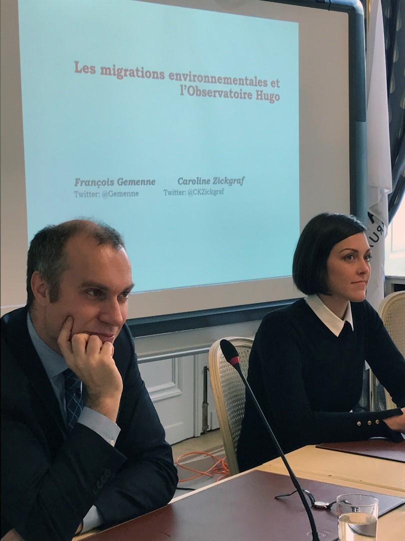 """Conférence sur le thème des """"Migrations environnementales"""" – Fr. Gemenne & Caroline Zickgraf – Parlement Fédération Wallonie-Bruxelles"""
