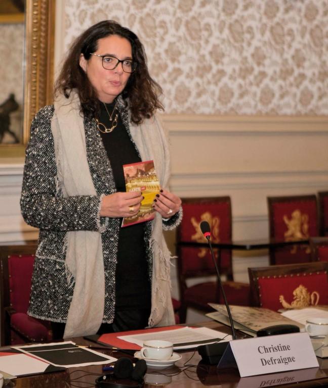 Rencontre avec la Présidente du Sénat Christine DEFRAIGNE