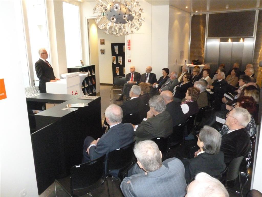 Présentation des vœux pour 2012 à l'Espace Wallonie de Bruxelles