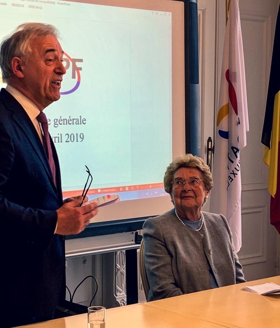 Une rencontre et un hommage à Antoinette Spaak, ministre d'État